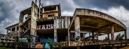 Straßenkunst auf Gebäude Stockbild