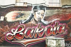 Straßenkunst in Bristol, Vereinigtes Königreich Stockfotos