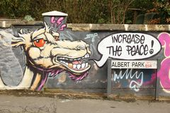 Straßenkunst in Bristol, Vereinigtes Königreich Lizenzfreies Stockbild