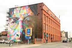 Straßenkunst in Bristol, Vereinigtes Königreich stockbild