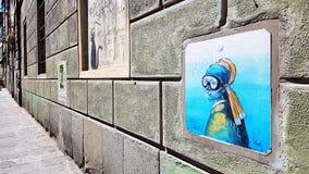 Straßenkunst in Florenz, Italien Lizenzfreies Stockbild