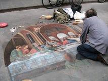 Straßenkunst in Florenz, Italien Lizenzfreies Stockfoto