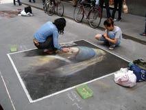 Straßenkunst in Florenz, Italien Lizenzfreie Stockbilder