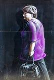 Straßenkunst in Glasgow, Großbritannien Stockbild