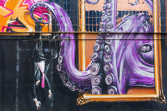 Straßenkunst in Glasgow, Großbritannien Stockfotos