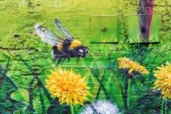 Straßenkunst in Glasgow, Großbritannien Lizenzfreies Stockfoto