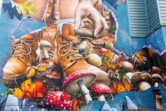 Straßenkunst in Glasgow, Großbritannien Stockbilder