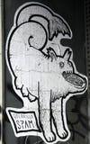 Straßenkunst - Guerillaspam Stockfotografie