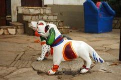 Straßenkunst - Hunde Stockbilder