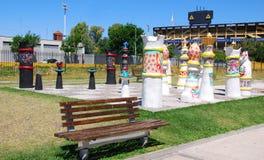 Straßenkunst im La Boca Stockbild