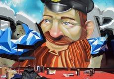 Straßenkunst im Stadtzentrum Lizenzfreies Stockfoto
