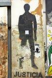 Straßenkunst im Stadtzentrum gelegenes Ushuaia Stockfotografie