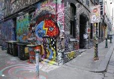 Straßenkunst ist eine der bedeutenden Touristenanziehungskraft in Melbourne Lizenzfreies Stockbild