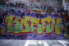 Straßenkunst ist eine der bedeutenden Touristenanziehungskraft in Melbourne Lizenzfreie Stockfotografie
