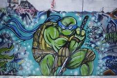 Straßenkunst ist eine der bedeutenden Touristenanziehungskraft in Melbourne Stockfotografie