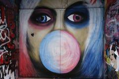 Straßenkunst ist eine der bedeutenden Touristenanziehungskraft in Melbourne Stockfotos