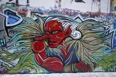 Straßenkunst ist eine der bedeutenden Touristenanziehungskraft in Melbourne Stockbilder