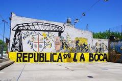 Straßenkunst in La Boca-Nachbarschaften Lizenzfreies Stockbild