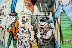 Straßenkunst in La Boca-Nachbarschaften Lizenzfreie Stockbilder