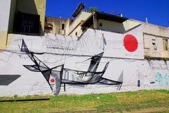 Straßenkunst in La Boca-Nachbarschaften Lizenzfreie Stockfotografie