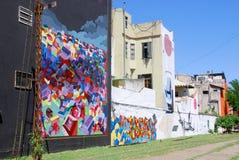 Straßenkunst in La Boca-Nachbarschaften Lizenzfreies Stockfoto
