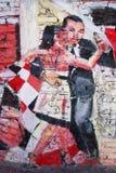 Straßenkunst in La Boca-Nachbarschaften Stockbilder