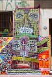 Straßenkunst in La Boca-Nachbarschaften Stockfotos