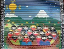 Straßenkunst - Leute Stockfoto