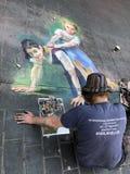 Straßenkunst in Liverpool stockbilder