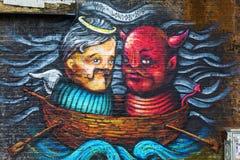 Straßenkunst in London, Großbritannien Stockbilder