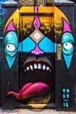 Straßenkunst in London, Großbritannien Stockbild