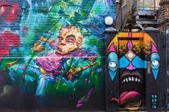 Straßenkunst in London, Großbritannien Lizenzfreies Stockbild