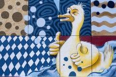 Straßenkunst in Luxemburg stockbilder