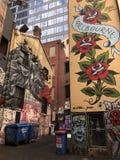 Straßenkunst in Melbourne Stockbild
