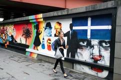 Straßenkunst in Melbourne stockfotos