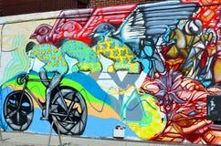 Straßenkunst Montreal Stockbild