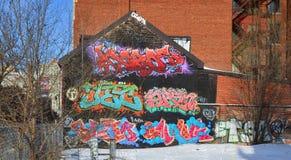 Straßenkunst Montreal Stockbilder