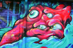 Straßenkunst Montreal Lizenzfreies Stockfoto