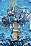 Straßenkunst Montreal-Roboter Stockbild