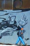 Straßenkunst Montreal-Roboter Stockfoto