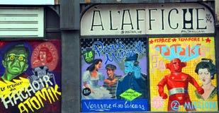 Straßenkunst Montreal-Weinlesefilm Stockfoto