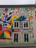 Straßenkunst in Porto lizenzfreie stockfotos