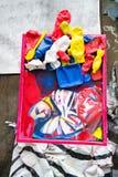 Straßenkunst, Prag, Tschechische Republik stockbilder
