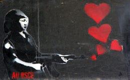 Straßenkunst - tireur Lizenzfreie Stockbilder