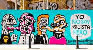 Straßenkunst in Valencia, Spanien stockbild