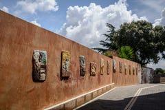 Straßenkunst von Tinnura, Sardinien lizenzfreies stockfoto