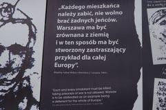 Straßenkunst in Warschau, Polen betitelt ` Exodus 1944 ` Stockbild