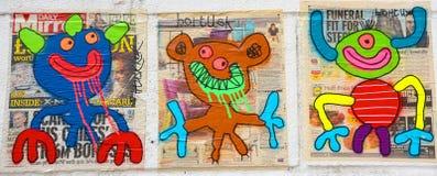 Straßenkunstfrau in Paris Frankreich Lizenzfreie Stockbilder