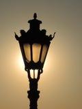Straßenlaterne bei Sonnenuntergang Lizenzfreies Stockfoto
