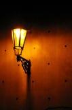 Straßenlaterne nachts Stockbild